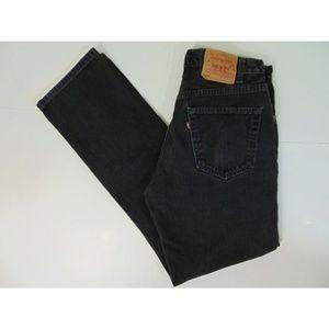 Levis Men 505 34 x 34 Regular Black Jeans Pants